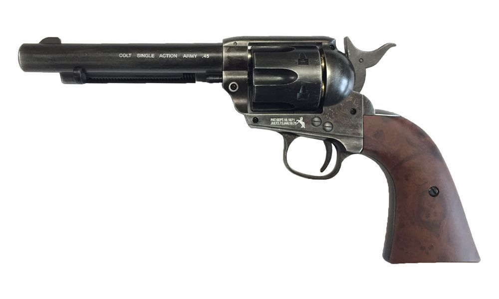 COLT 45 PEACEMAKER CO2 AIRGUN 4.5 FULL METAL NOIR VIEILLI