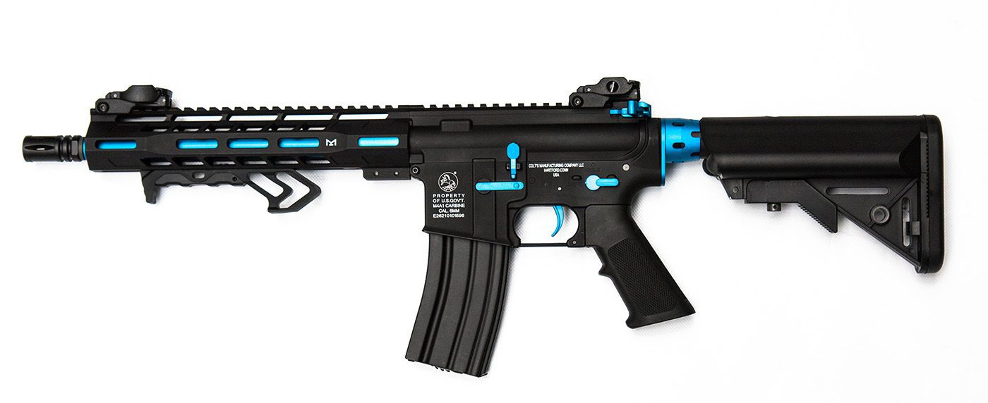 Colt M4 Hornet Blue Fox AEG Mosfet Full metal 300 BBS 1J