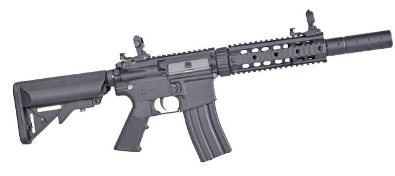 Colt M4 Keymod Silent OPS Noir Airsoft Full Metal 1,2J