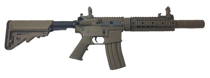 Colt M4 Keymod Silent OPS Tan Airsoft Full Metal 1,2J