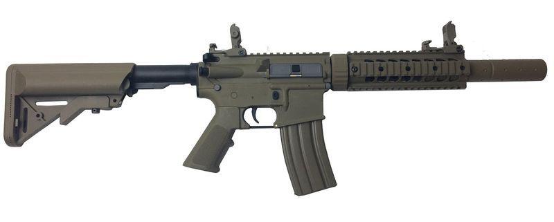 Colt M4 Silent OPS Tan Airsoft Fibre Nylon 1,2J