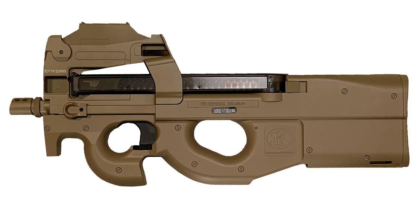 Cybergun FN Herstal P90 Airsoft AEG Tan avec Red-Dot intégré