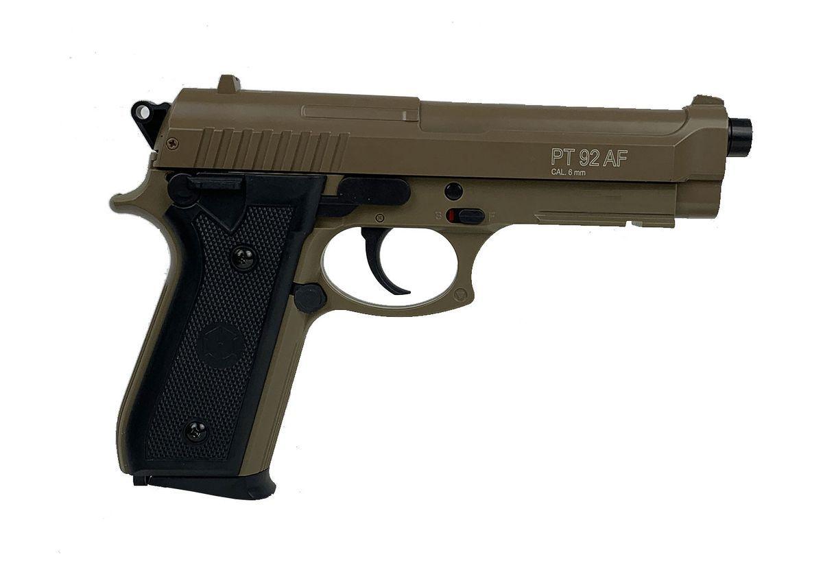 Cybergun PT92 HPA Tan Spring manuel Culasse metal