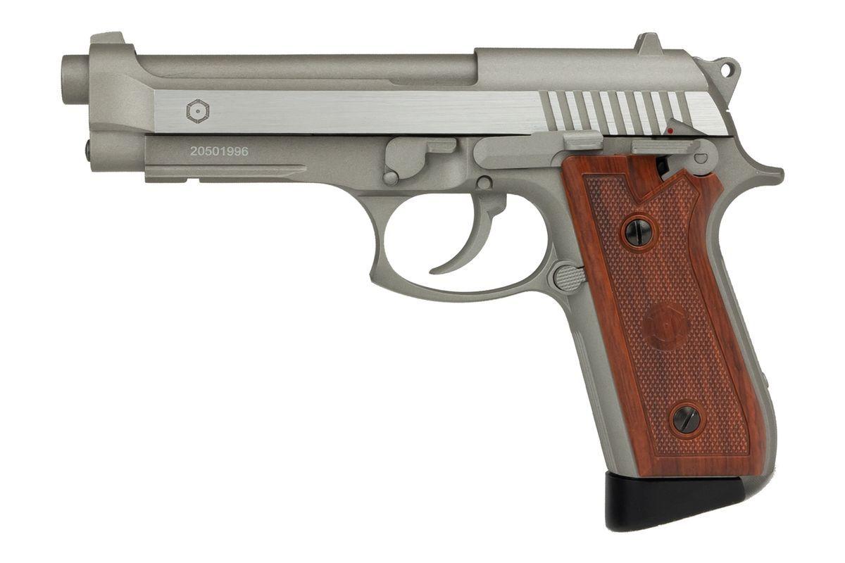 Cybergun PT99 Full Metal Silver CO2 Semi et Full Auto - Chargeur court - 1,9J