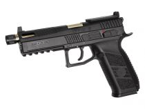 CZ P-09 Noir canon Or CO2 Optic Ready Culasse Métal Blowback avec mallette