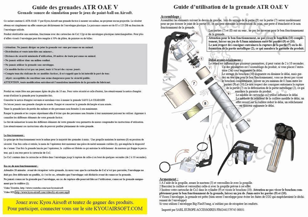 DETONATEUR AVEC CUILLERE POUR GRENADE ATR OAE V