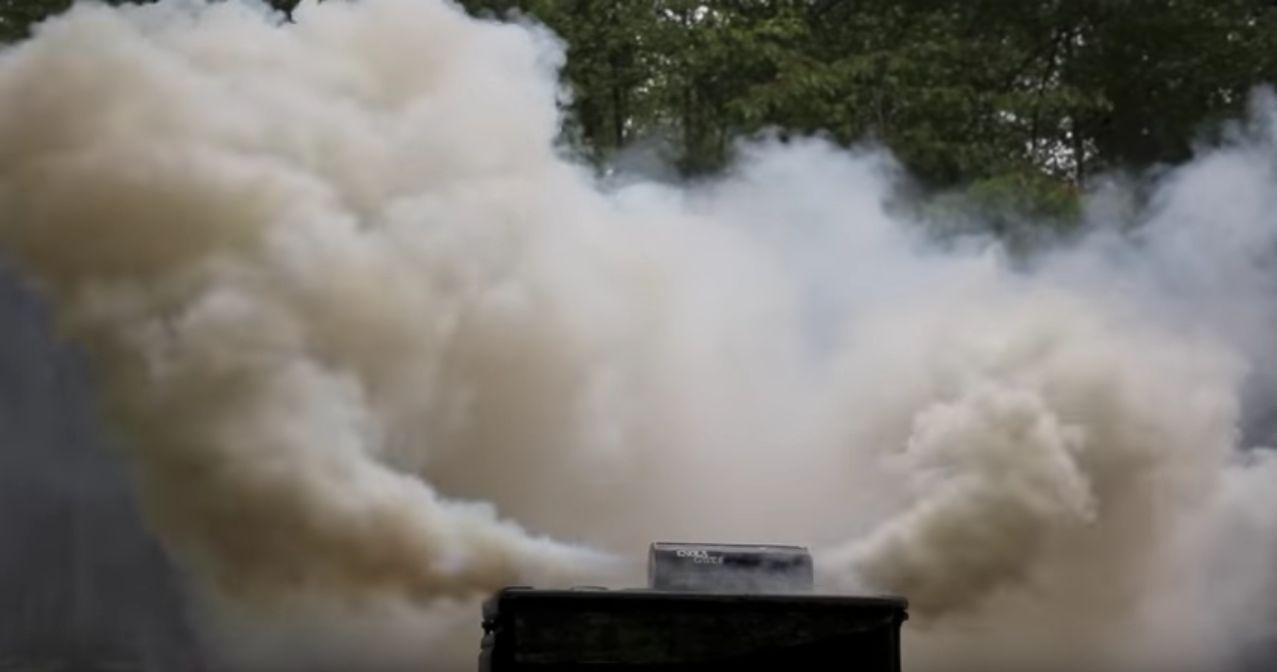 Enola Gaye Fumigène Burst double sortie 4eme génération Blanc