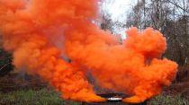Enola Gaye Fumigène Burst double sortie 4eme génération Orange