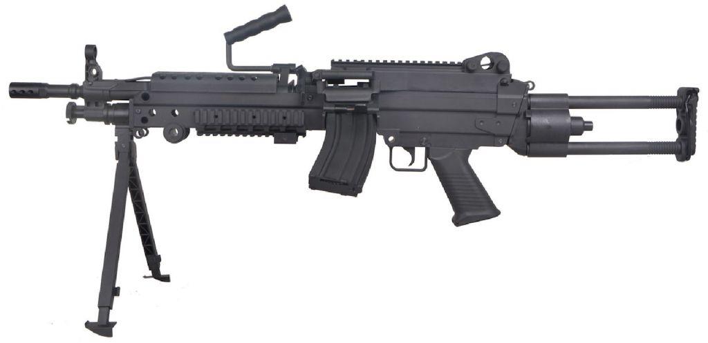 FN M249 PARA Airsoft Fibre Nylon avec Chargeur 300 Billes