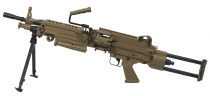 FN M249 PARA DARK EARTH - METAL 1.2J LIVREE AVEC AMOBOX