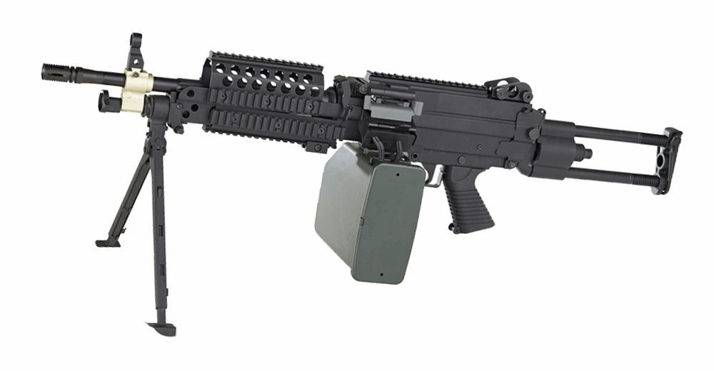 FN MINIMI MK 46 FULL METAL AVEC AMOBOX