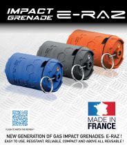 Grenade Airsoft Rotative E-RAZ gaz 100bbs Vert Anis