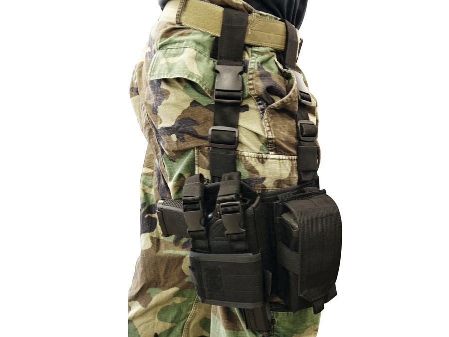 HOLSTER DE CUISSE POUR M4/AK - NOIR
