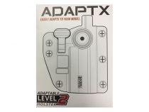 Holster Polymere ADAPT-X ambidextre réglable Battle Grey