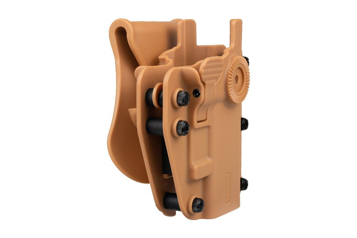 Holster Swiss Arms Polymere ADAPT-X Level 2 ambidextre réglable Coyote