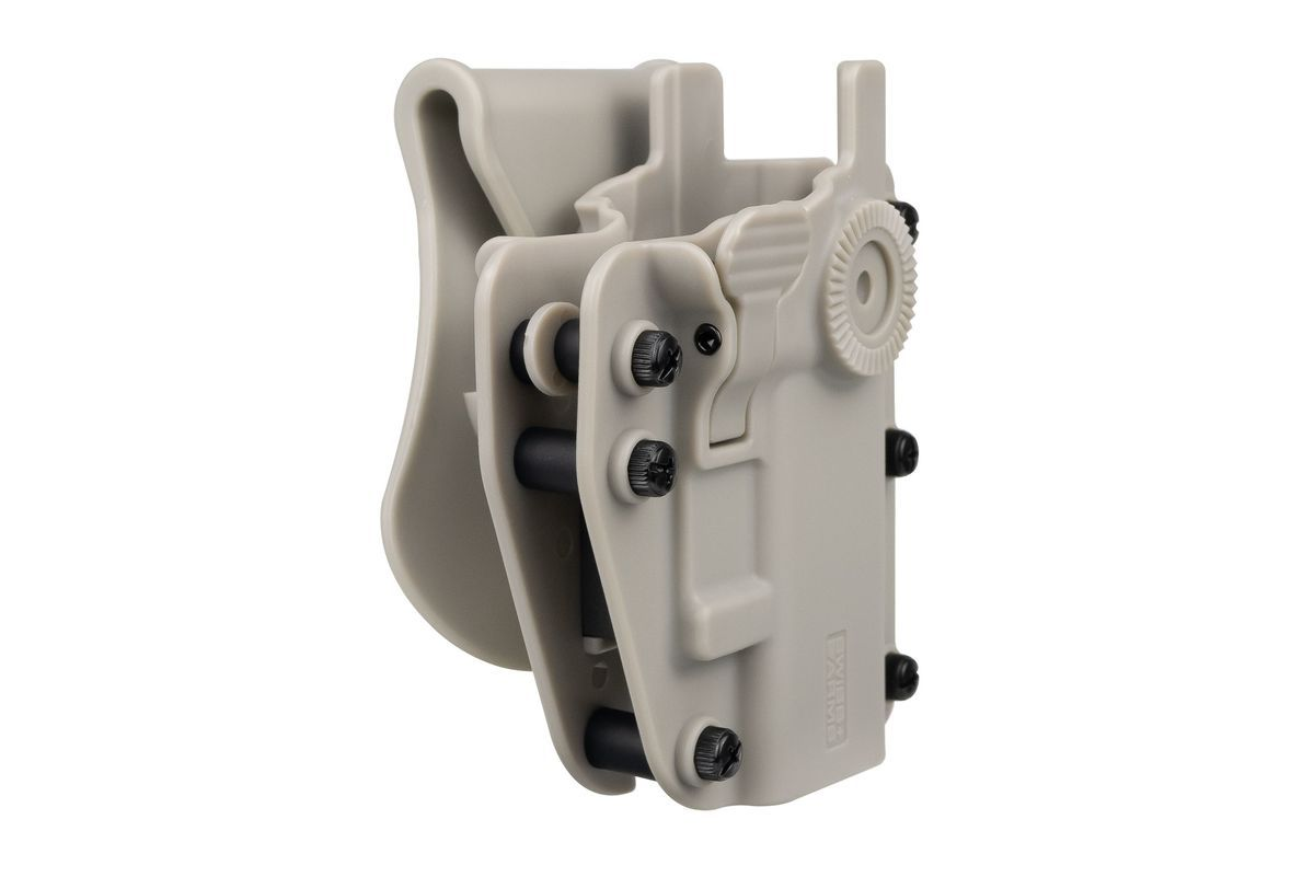 Holster Swiss Arms Polymere ADAPT-X Level 2 ambidextre réglable Urban Grey