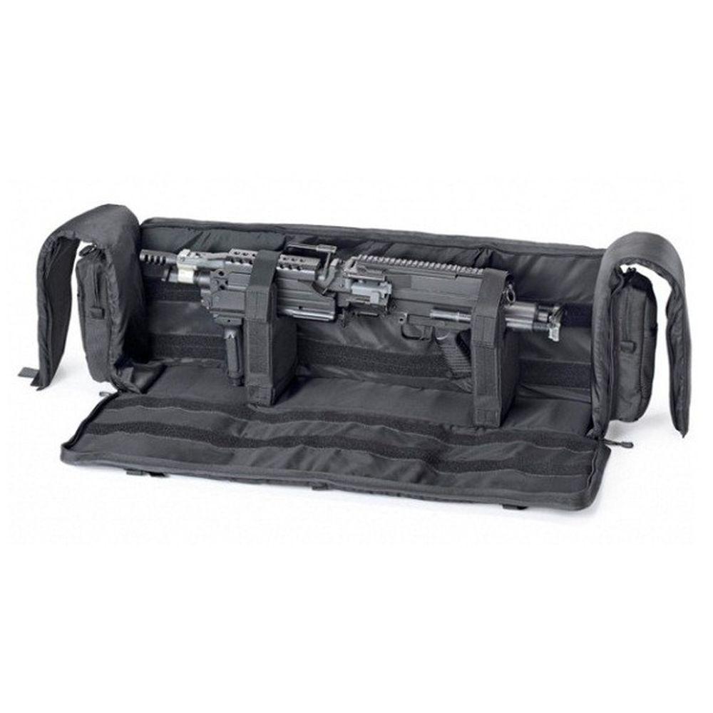 Housse de transport noire 115cm pour réplique lourde de soutien M249 - M60 - MK43