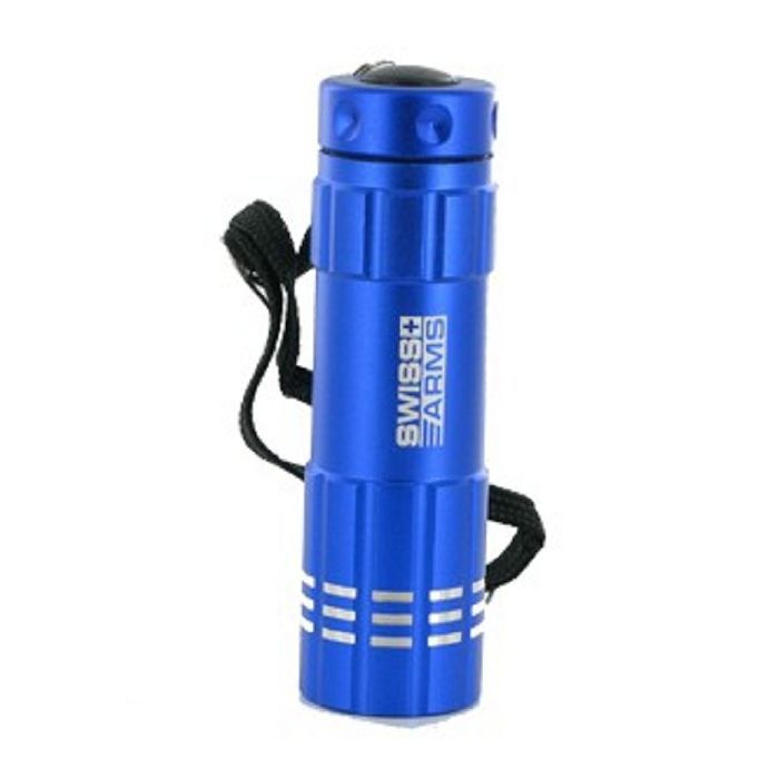 LAMPE LED FLASHLIGHT SWISS ARMS BLEUE