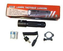 LAMPE TORCHE TACTIQUE + INTERRUPTEUR DEPORTE + SUPPORT
