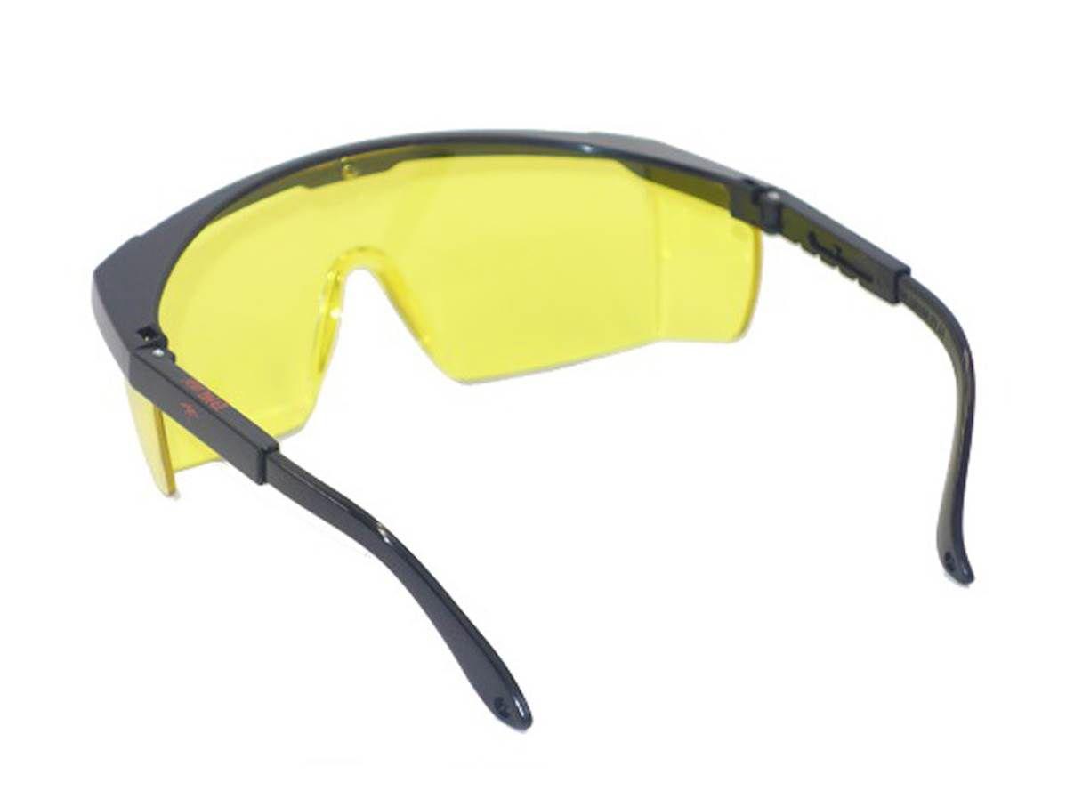 Lunettes de protection réglables jaunes surlunettes EN166
