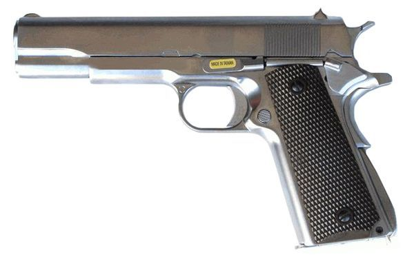 M1911 A1 Full Metal Gaz Blowback Chrome WE Airsoft