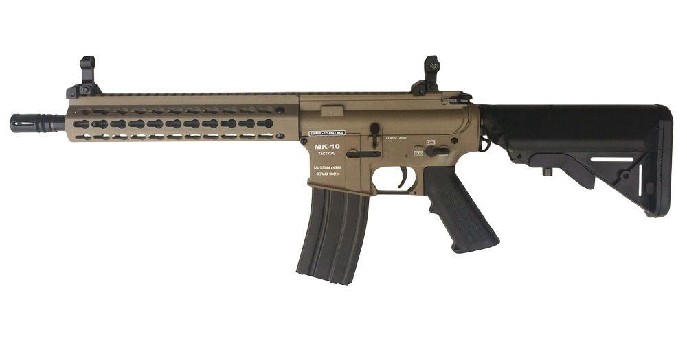 M4 MK-10 KEYMOD FULL METAL DARK EARTH CLASSIC ARMY AEG