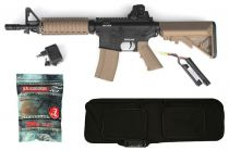 Pack Airsoft Colt M4 CQB AEG Bicolore 1,2J + Housse + Billes