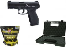 Pack Airsoft Cybergun PT 24/4 Spring + Billes + Mallette
