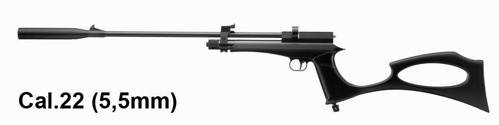 Pistolet - Carabine à plombs calibre 5.5 mm Artemis CP2 noir
