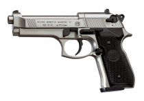 PISTOLET BERETTA 92 FULL METAL NICKEL PLAST PLOMB 4,5