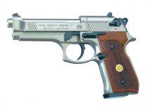 PISTOLET BERETTA M92FS NICKELE CROSSE BOIS