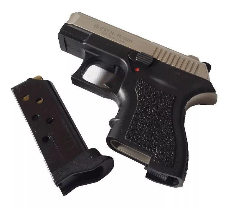 Pistolet d\'Alarme EKOL Botan 9mm PAK Noir Gris Mat