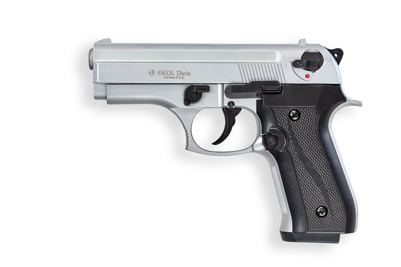 PISTOLET D\'ALARME EKOL DICLE NICK MAT-NEW CONCEPT 9MM