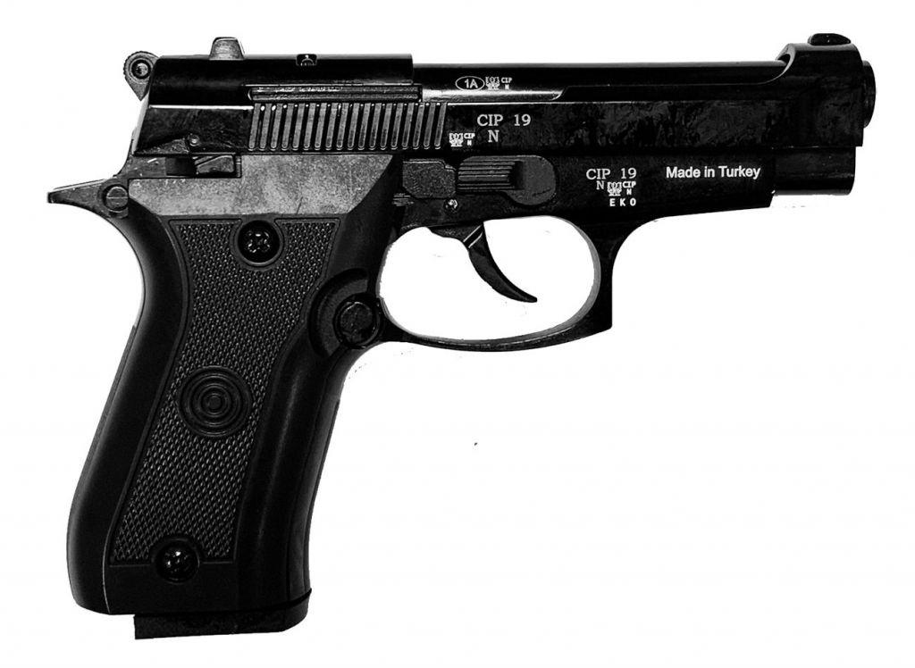 Pistolet d\'alarme EKOL Special 99 REV-II 9mm PAK Noir Brillant