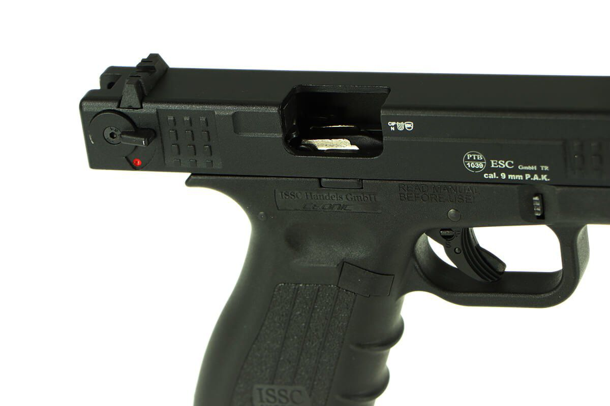 Pistolet d\'alarme ISSC M22-9 9mm PAK Noir Mat