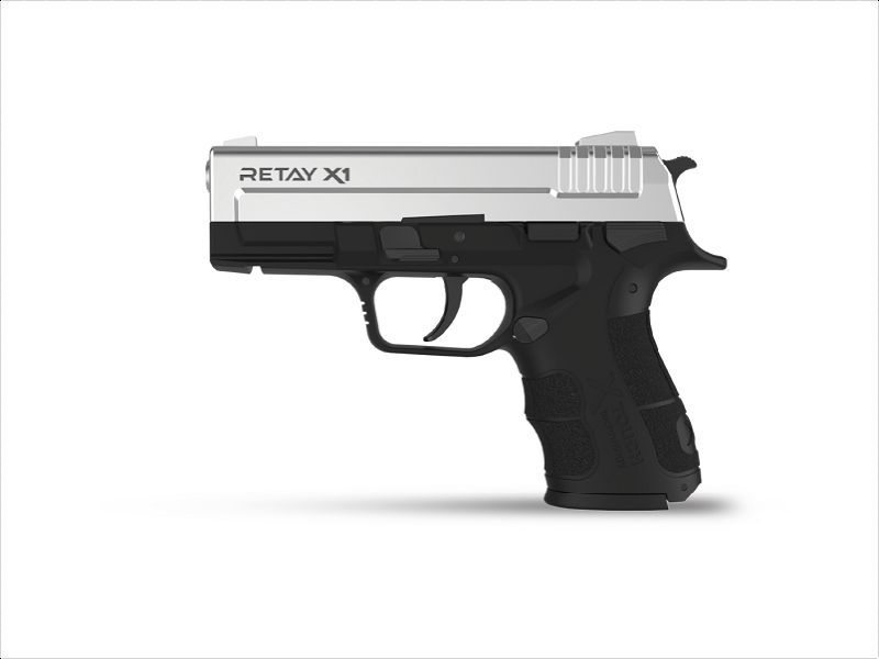 PISTOLET D\'ALARME RETAY X1 9MM PAK CHROME+ MALLETTE
