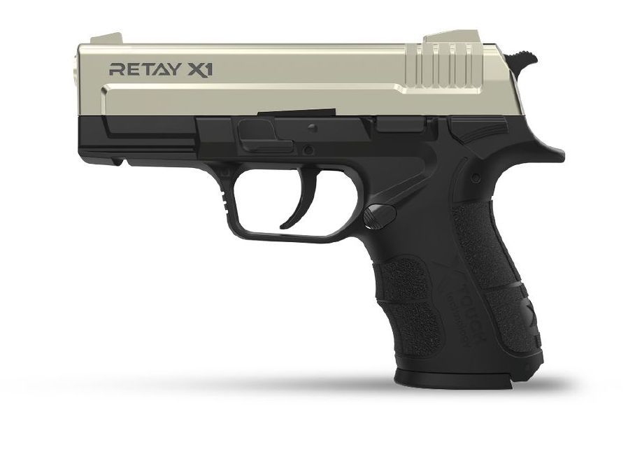 PISTOLET D\'ALARME RETAY X1 9MM PAK NICKEL + MALLETTE