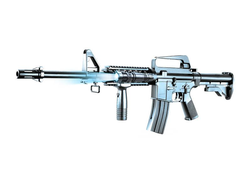 Plan Beta Airsoft Fusil M4 A1 Commando KIT Noir SPRING 0.26J