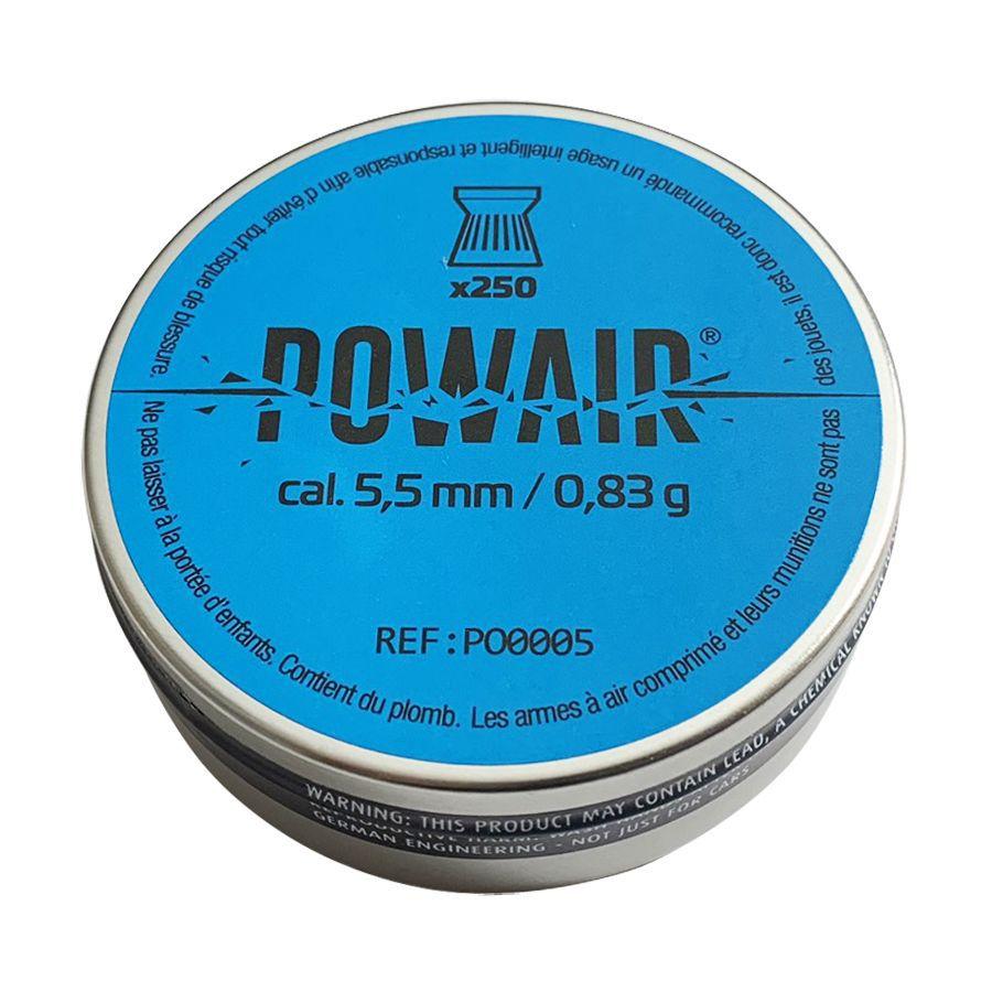 Plombs plats Powair 5.5 mm Cal.22 Boîte de 250 plombs