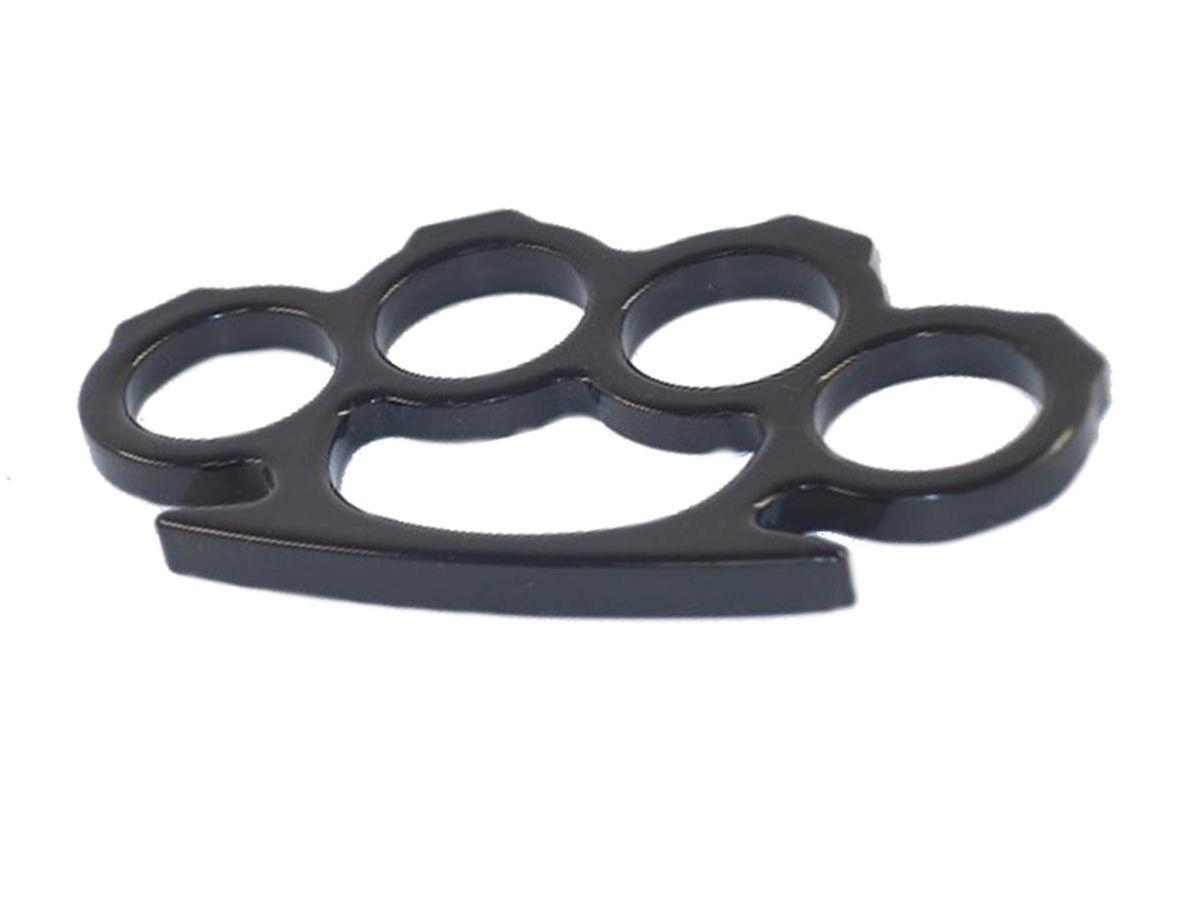 Poing américain Noir phalanges plates