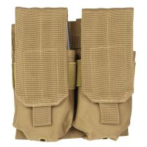 PORTE CHARGEUR DOUBLE POUR M4 / M16 TYPE MOLLE COYOTE