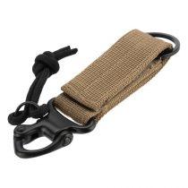 Porte-clés ou porte équipement Tactique Tan