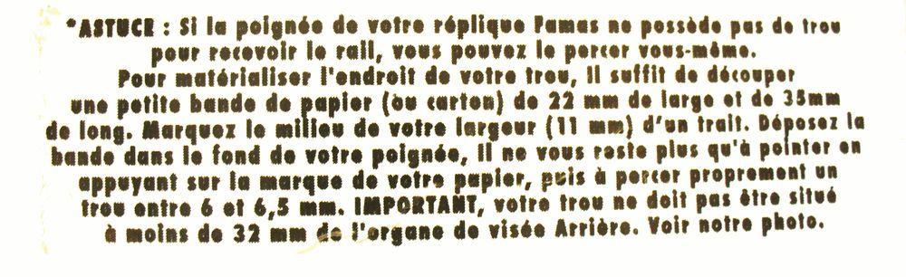 RAIL DE MONTAGE SUPERIEUR POUR FAMAS