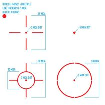 Red-dot Firefield Impact XLT Reflex Sight multi-réticules