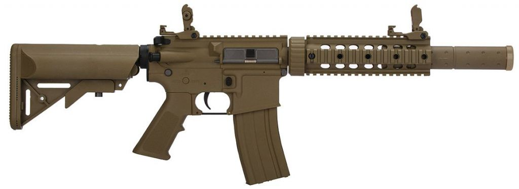 Réplique airsoft AEG LT-15 GEN2 M4 SD Tan pack complet