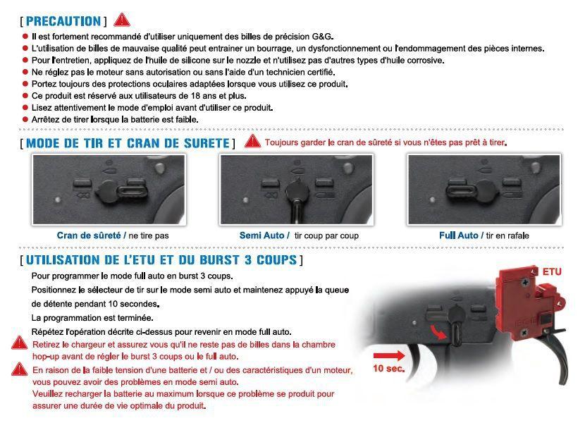 """Réplique Airsoft G&G CM16 Wild Hog 7\"""" noir AEG"""