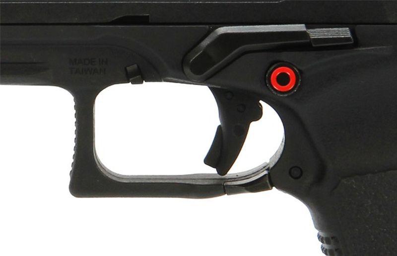 Réplique de poing G&G GTP9 Noir Full Métal Gaz Blowback + Mallette