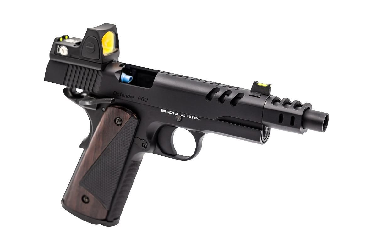Réplique GBB gaz VORSK CS Defender Pro MEU Noir GBB + RMR BDS