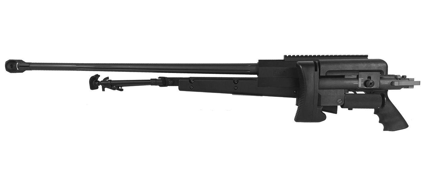 Réplique Sniper PGM 338 Noir Bolt Gaz Full metal + Bipied + Malette rigide