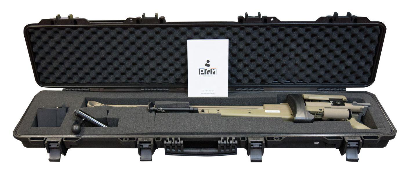 Réplique Sniper PGM 338 Tan Bolt Gaz Full metal + Bipied + Malette rigide